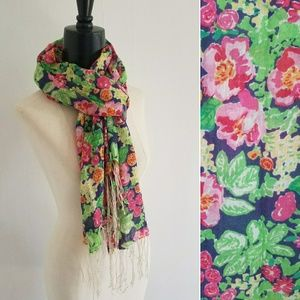 LILLY PULITZER floral Murfee scarf